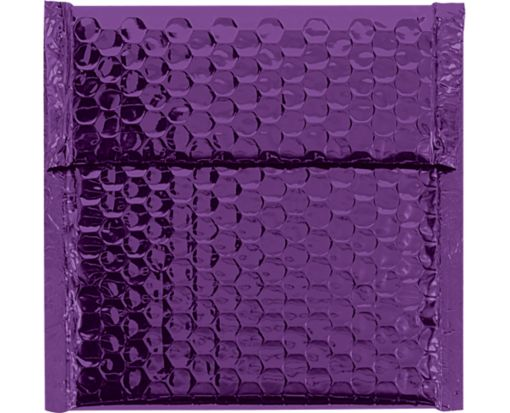 7 x 6 3/4 Glamour Bubble Mailers Purple