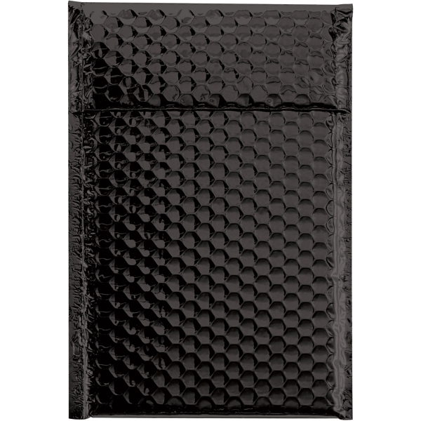 7 1/2 x 11 Glamour Bubble Mailers Black