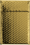 7 1/2 x 11 Glamour Bubble Mailers Gold