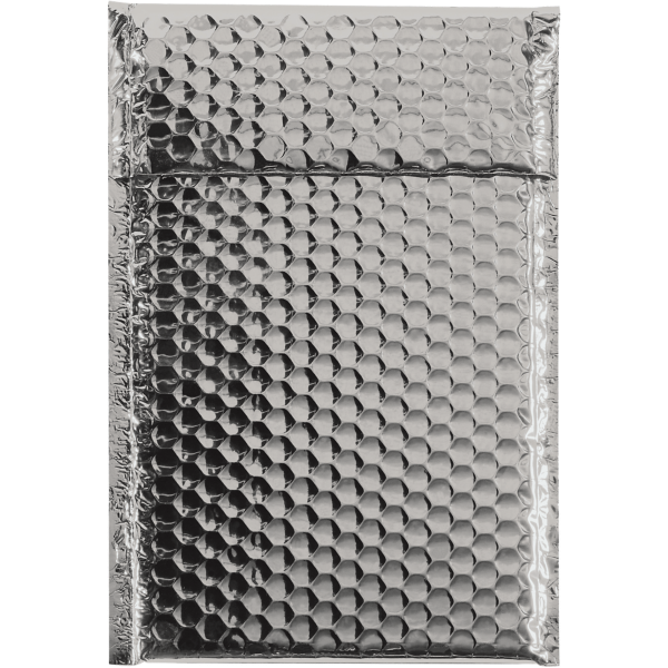 7 1/2 x 11 Glamour Bubble Mailers Silver
