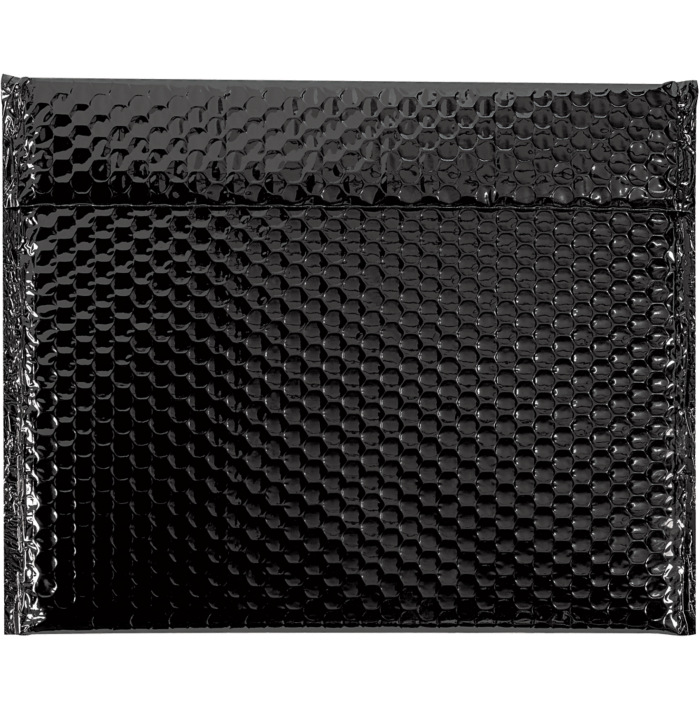 13 3/4 x 11 Glamour Bubble Mailers Black