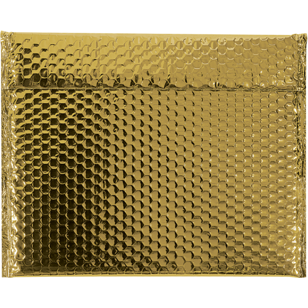 13 3/4 x 11 Glamour Bubble Mailers Gold