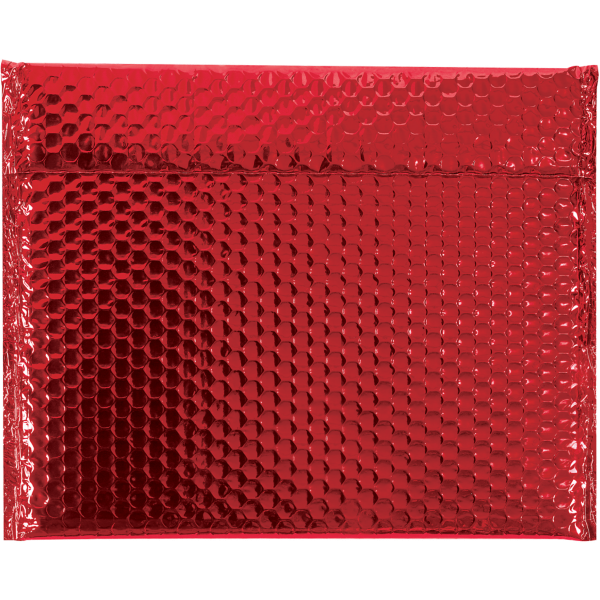 13 3/4 x 11 Glamour Bubble Mailers Red