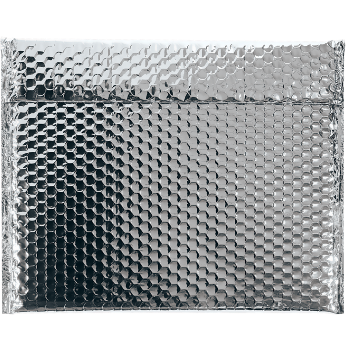 13 3/4 x 11 Glamour Bubble Mailers Silver