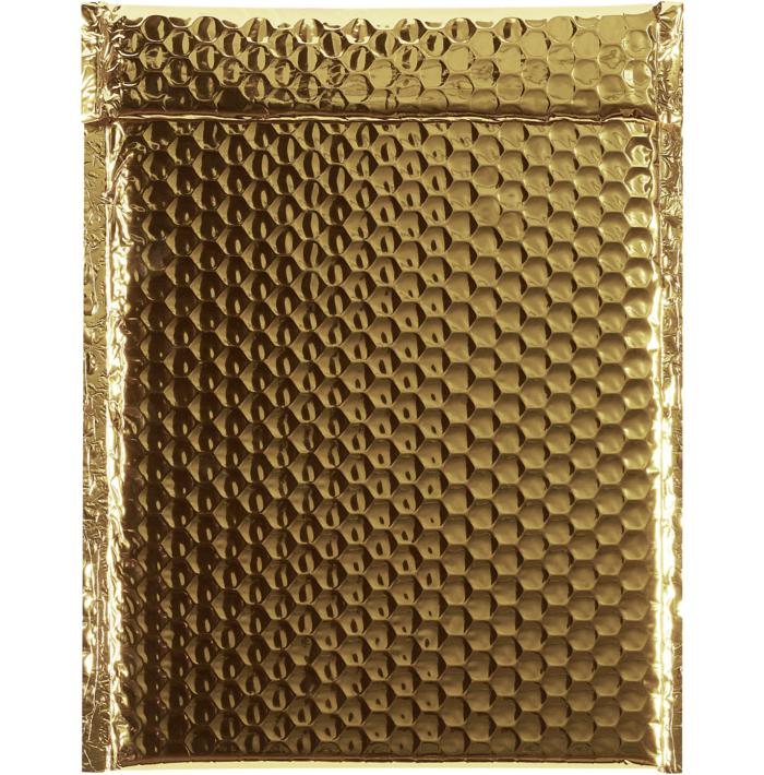 9 x 11 1/2 Glamour Bubble Mailers Gold