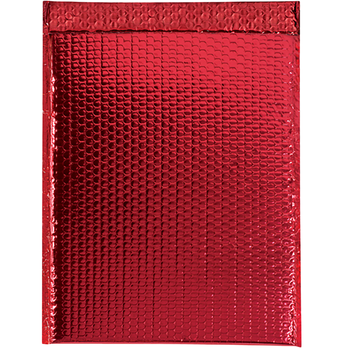13 x 17 1/2 Glamour Bubble Mailers Red