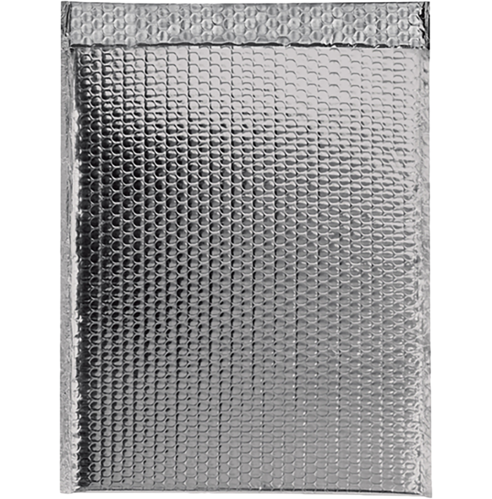 13 x 17 1/2 Glamour Bubble Mailers Silver