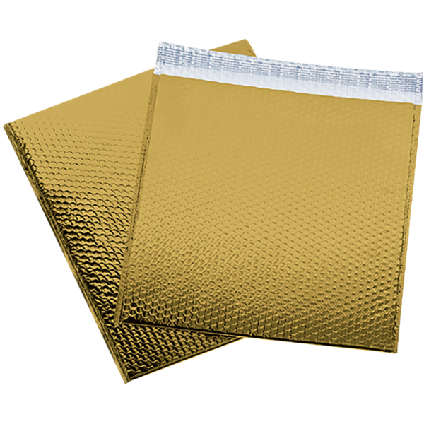 16 x 17 1/2 Glamour Bubble Mailers Gold
