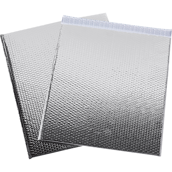 19 x 22 1/2 Glamour Bubble Mailers Silver