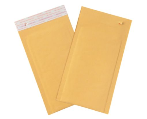 #000 Bubble Mailers w/ Tear Strip Brown Kraft