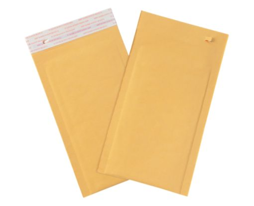 #0 Bubble Mailers w/ Tear Strip Brown Kraft