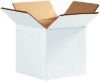 Corrugated Boxes - 4 x 4 x 4 White