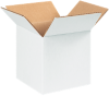 Corrugated Boxes - 6 x 6 x 6  White