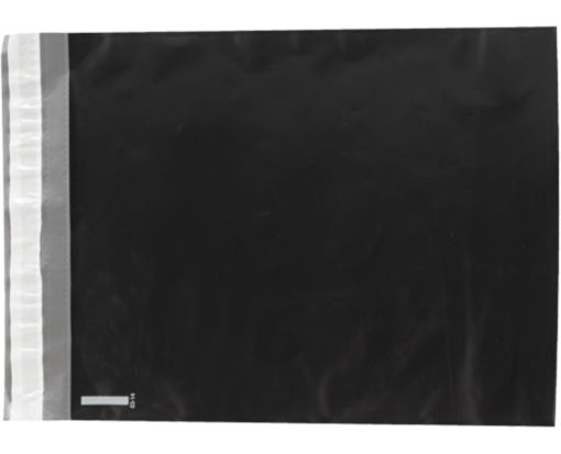 12 x 15 1/2 Plastic Mailers Midnight Black