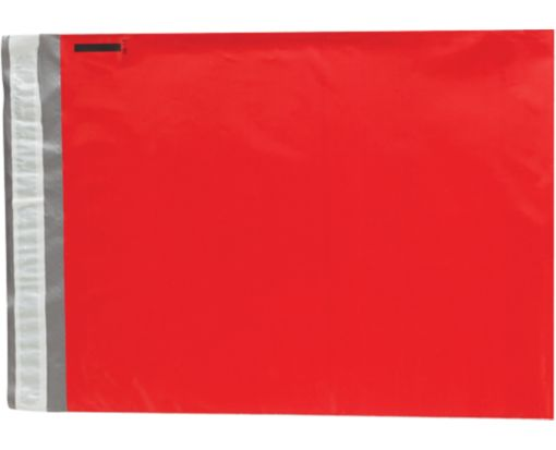 12 x 15 1/2 Poly Mailers Holiday Red