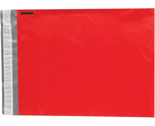 14 1/2 x 19 Plastic Mailers Holiday Red