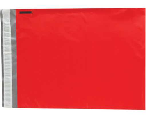 14 1/2 x 19 Poly Mailers Holiday Red