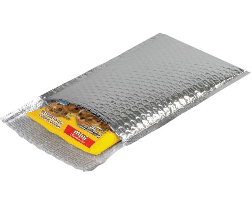 6 1/2 x 10 1/2 Cool Shield Bubble Mailers Silver