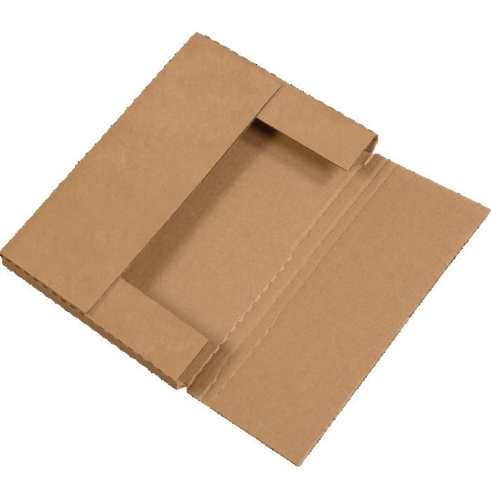 Easy-Fold Mailers - 12 1/8 x 9 1/8 x 1  Kraft
