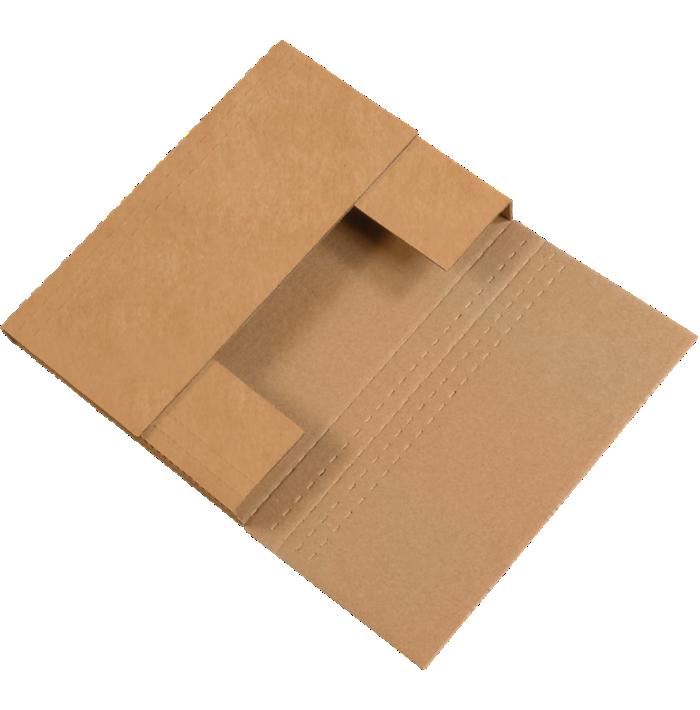 Easy-Fold Mailers - 12 x 9 x 3  Kraft