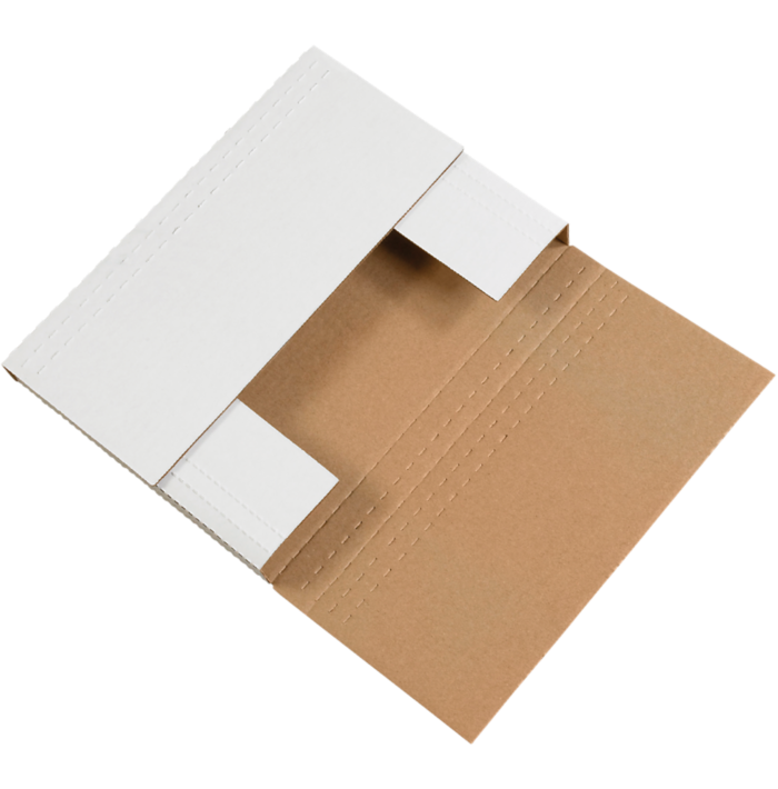 Easy-Fold Mailers - 12 1/8 x 9 1/8 x 2  White