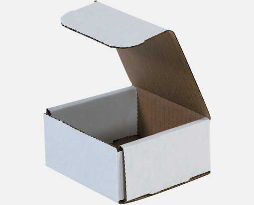 Corrugated Mailers - 4 x 4 x 2  White