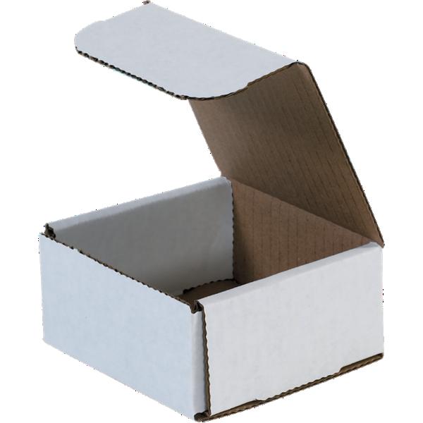 Corrugated Mailers - 4 x 4 x 2  White