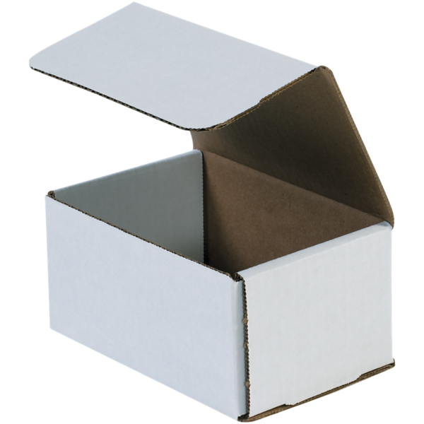 Corrugated Mailers - 6 x 4 x 3  White
