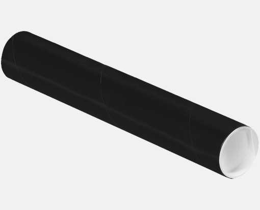 2 x 12 Mailing Tubes Midnight Black