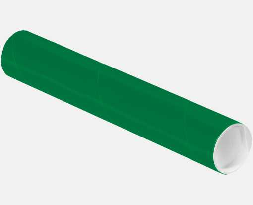 2 x 12 Mailing Tubes Holiday Green