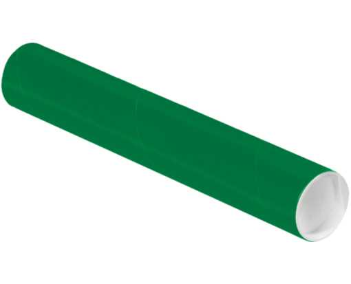 2 x 18 Mailing Tubes Holiday Green