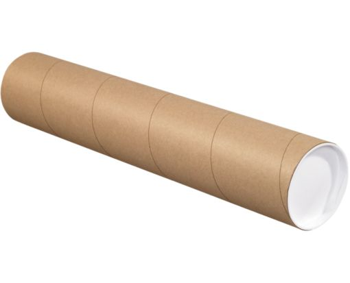 2 x 18 Mailing Tubes Brown Kraft