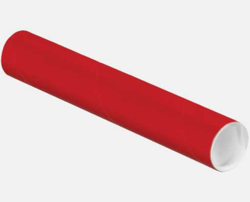 2 x 18 Mailing Tubes Holiday Red