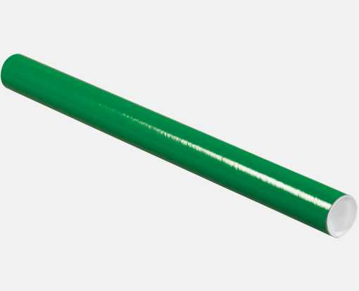 2 x 24 Mailing Tubes Holiday Green