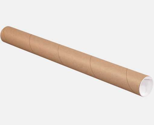 2 x 24 Mailing Tubes Brown Kraft