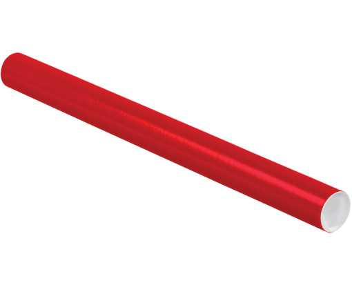 2 x 24 Mailing Tubes Holiday Red