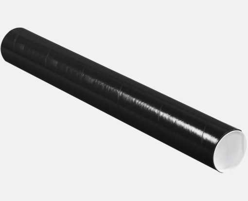 3 x 24 Mailing Tubes Midnight Black