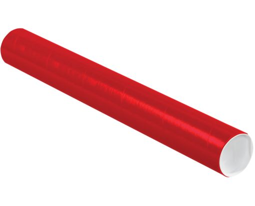 3 x 24 Mailing Tubes Holiday Red