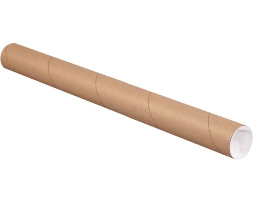 4 x 48 Mailing Tubes Brown Kraft
