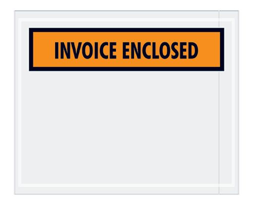 4 1/2 x 5 1/2 Packing Slip Envelopes Orange Panel - 2mil Poly