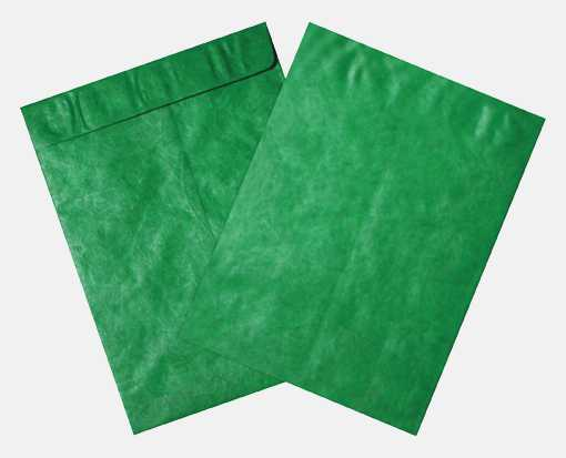 10 x 13 Open End Envelopes Holiday Green - Tyvek