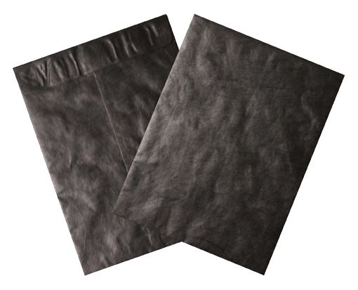 9 x 12 Open End Envelopes Midnight Black - Tyvek