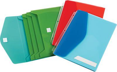 Oxford® Side Load Binder Pockets w/ Velcro Closure Assorted