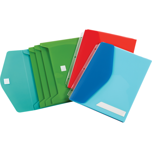 Oxford® Side Load Binder Pockets w/ Velcro Closure Assorted