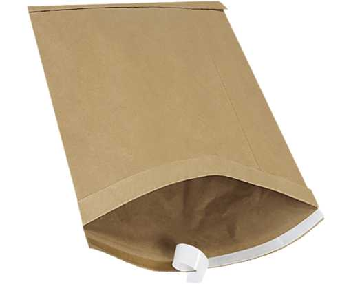 #5 10 1/2 x 16 Self-Seal Padded Mailer Brown Kraft