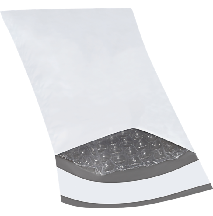 4 x 8 Bubble Lined Poly Mailer White
