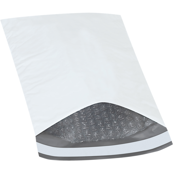 6 1/2 x 10 Bubble Lined Poly Mailer White