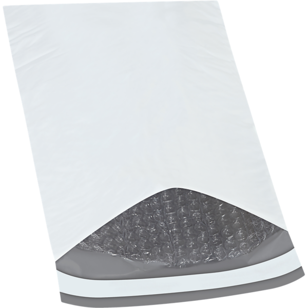 7 1/4 x 12 Bubble Lined Poly Mailer White