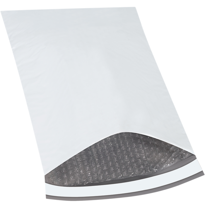 10 1/2 x 16 Bubble Lined Poly Mailer White