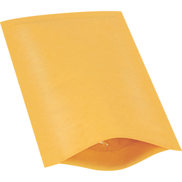 #000 4 x 8 Heat-Seal Bubble Mailer Brown Kraft - Heat Seal
